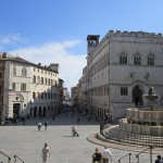 Perugia, fountain and main piazza